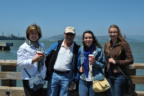 Aunt Carole, Uncle Pooge, Emily, Me in San Francisco Bay