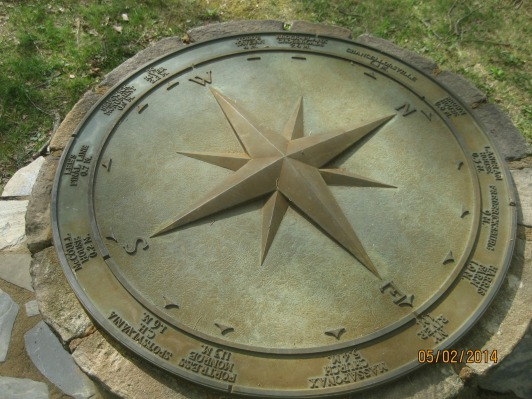 Addie loved these compasses that oriented you on the battlefields