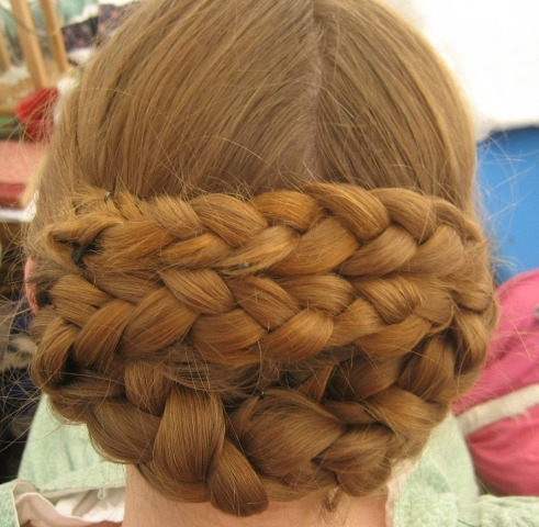 One of the hairstyles I tried on Addie