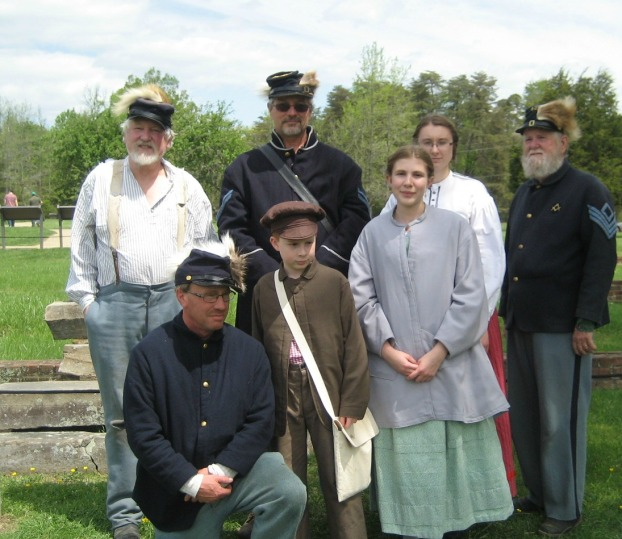 Part of our group: Mr. John, Mr. Doug, Me, Sgt. Clarence, Jimmy, Mason, & Addie