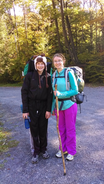 Marcus and I before hitting the trail. Look how tall he is!