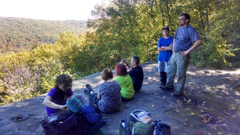 Taking a break at the overlook.