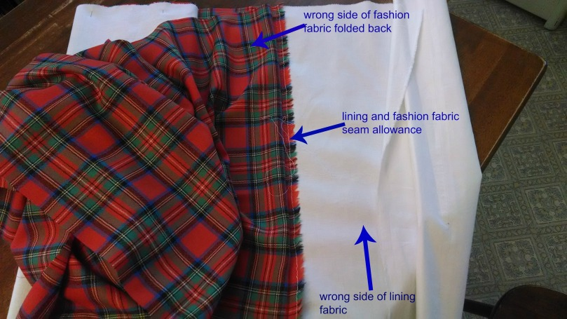 Sewing a Braveheart Kilt Part II, the lining (https://thefarmingdaughter.com/2015/03/02/braveheart-part-ii/)
