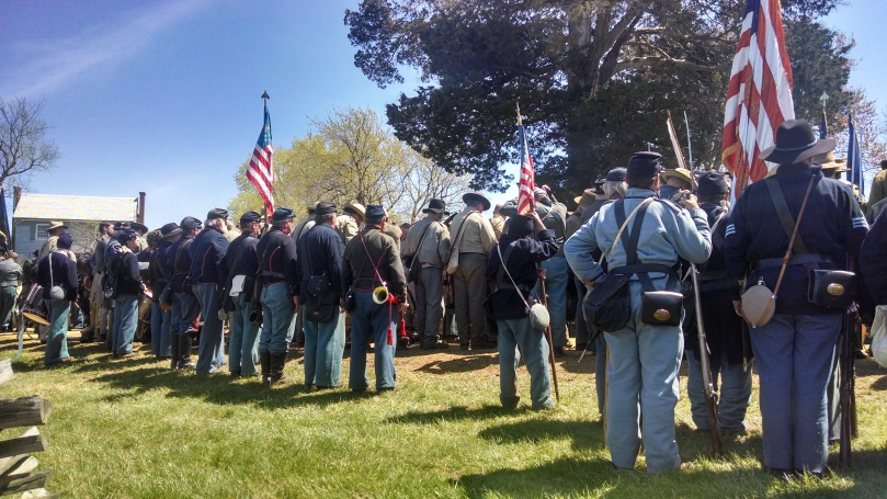 150th Appomattox: Confederate surrender ceremony 2 (https://thefarmingdaughter.com/2015/05/18/150th-appomattox/)