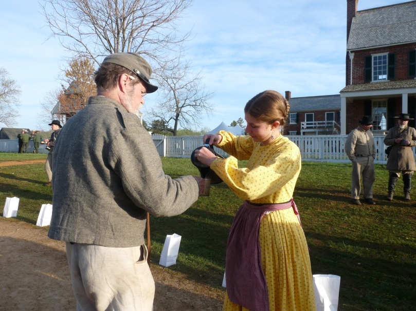 150th Appomattox: Addie serving coffee (https://thefarmingdaughter.com/2015/05/18/150th-appomattox/)