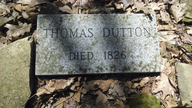 Thomas Dutton's tombstone